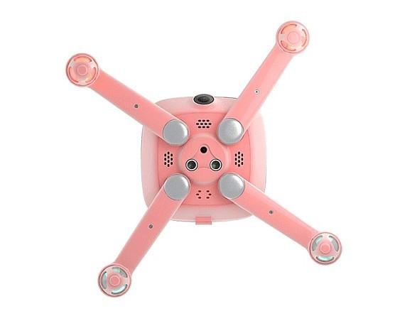 Kimon 飛行器軸臂伸展後的模樣,同時可看到機身腹部設有 3 個圓孔,相信是光流和超聲波感應器。