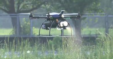 日本農業植保機 Agri Drone 瞄準蟲患處精準噴灑農藥