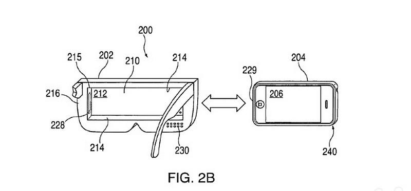 2015 年,Apple 已申請註冊一項關於頭戴式顯示裝置跟手機結合使用的技術專利,驟看跟市面上現有的 VR 眼鏡方案有幾分相似。