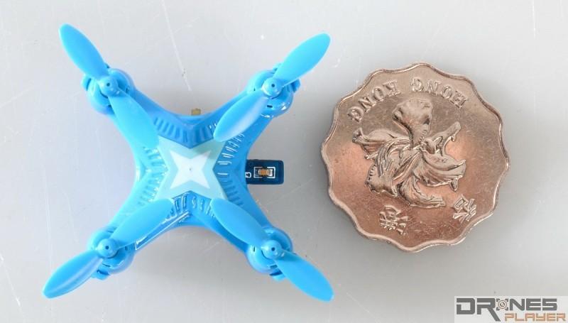 Create Toys E904 機身只有 22 x 22 x 20 毫米,比一個 2 元港幣略大。