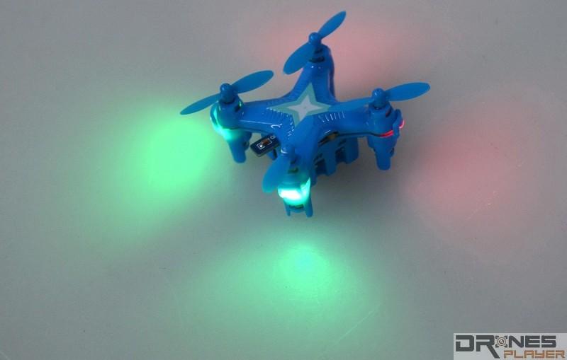 Create Toys E904 機身四邊都設有 LED 燈號,方便用家辨認機頭方向。