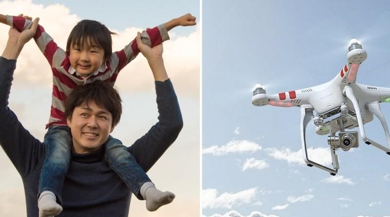 用無人機跟子女玩遊戲