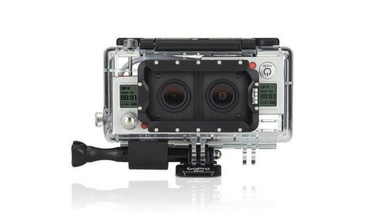 GoPro 早於 2011 年便曾推出 3D HERO System 的立體攝影方案,能夠將 2 部 GoPro 運動相機拼合為一,變身為雙鏡頭的拍攝裝置,可見 GoPro 早已掌握 3D 攝影技術。