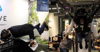 Computex 直擊:HTC Vive讓你體驗雀鳥飛行•VR模擬高空跳傘