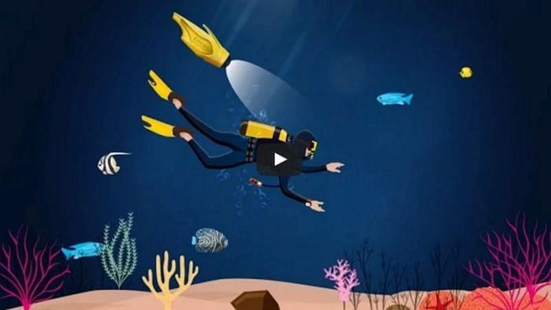 iBubble 機身兩側設有探射燈,可為潛水員照亮海底深處。