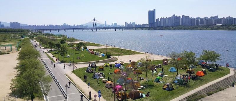 首爾 無人機 公園 漢江