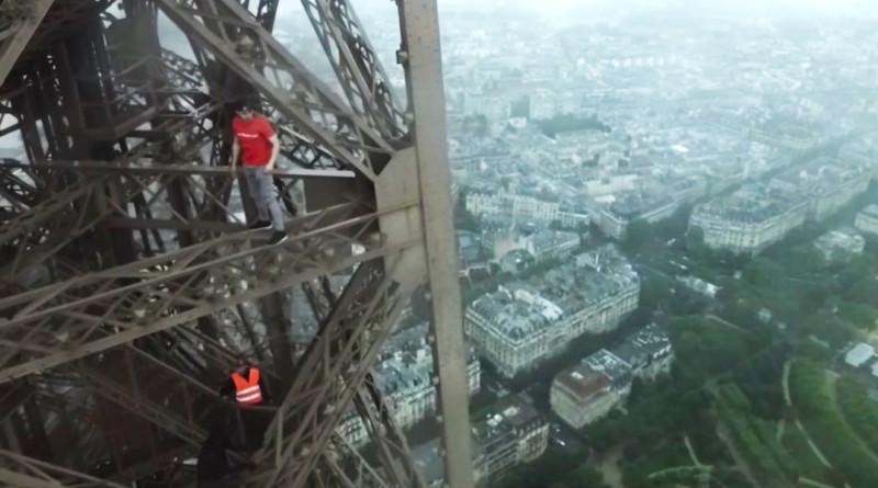 巴黎鐵塔 航拍 攀爬