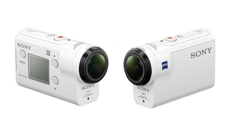 Sony FDR-X3000 與 HDR-AS300 的外形相若,機側同樣具備預覽屏幕。