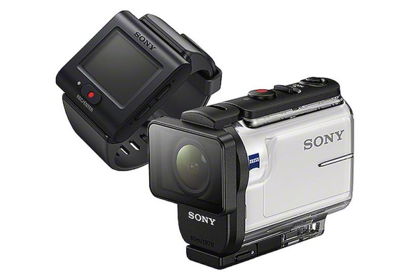 Sony RM-LVR3 穿戴式藍牙顯示器(圖左)與防水殼(圖右)。