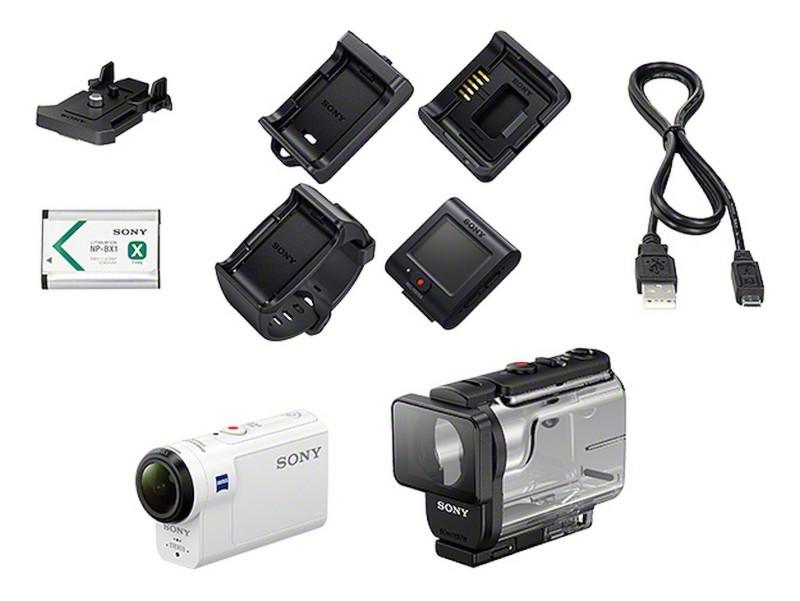 Sony FDR-X3000 與 HDR-AS300 運動相機的配件一覽。
