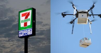 7-11無人機送貨試飛成功!思樂冰•熱咖啡 24小時空中宅配到府