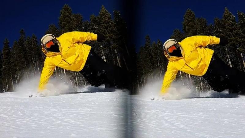 藉由 Vitrima 3D Lens 所拍影像全會一分為二,如此便可藉著左右影像視差來提供的 Stereoscopic 3D 顯像效果。