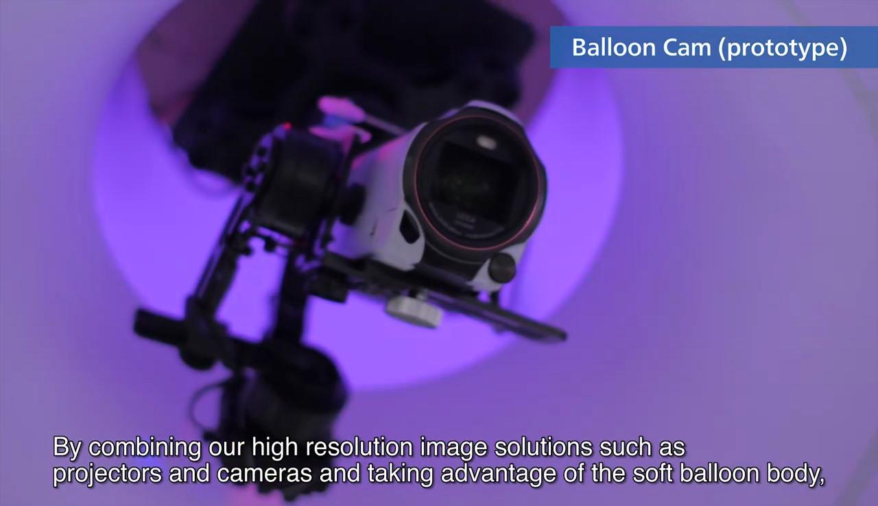 Panasonic Ballooncam 內置四軸支架,底部裝上航拍相機,即變身為空拍機。