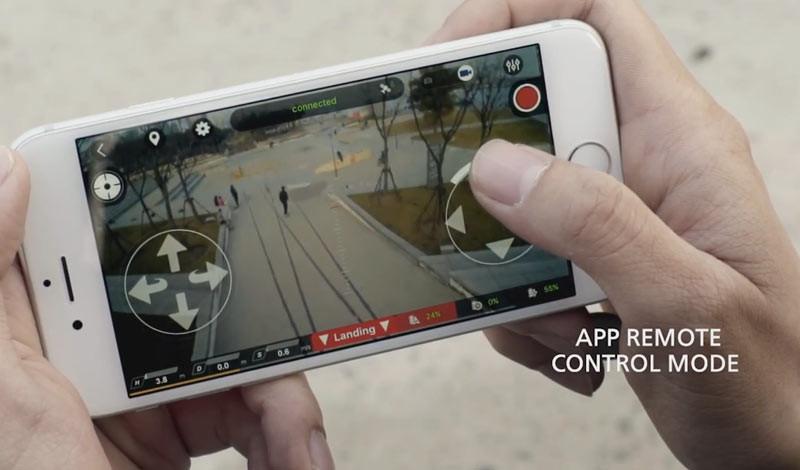 Orbit 飛行相機的專屬手機 app 除可用作操控飛行,還可讓用戶直接編輯航拍影片、增加濾鏡等,並可一鍵分享影像至社交平台。