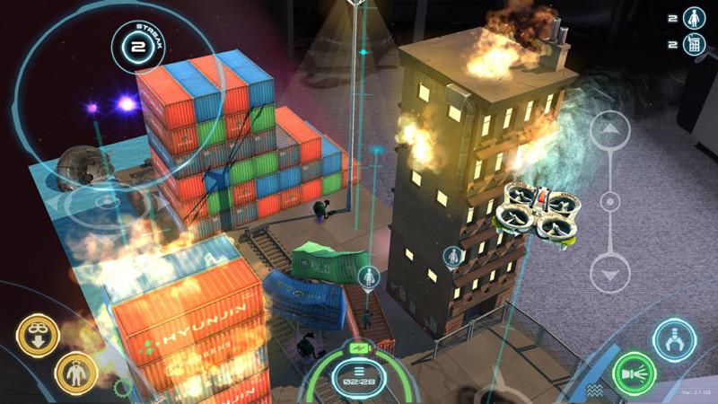AR 遊戲玩法是玩家控制無人機,並在空中派員降落地面對抗外星人,並進行空中拯救任務。