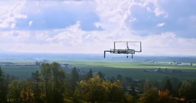 Amazon 無人機停機坪專利曝光 讓路燈桿變架空充電補給站