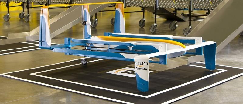 亞馬遜英國試飛送貨無人機