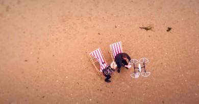 夏天最高享受 無人機直送軟雪糕到沙灘!