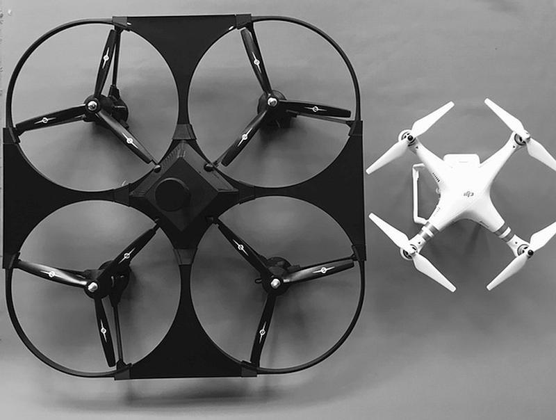 Freebird One 飛行器的大小差不多是 DJI Phantom 3 的四倍。