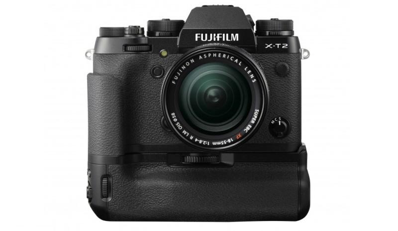 Fujifilm X-T2 在加裝專用直度手柄 VPB-XT2 後,可提升部分功能規格。