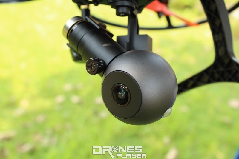 GhostDrone 2.0 旗艦版配備球形的 4K 級數航拍相機。