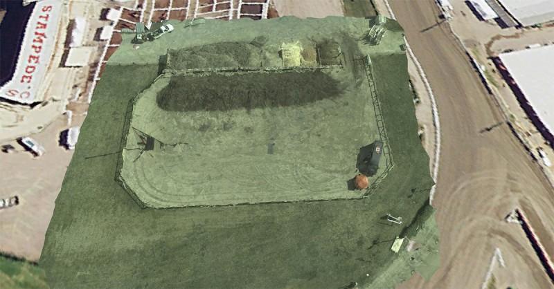 空拍機能拍攝清晰、細緻的地形影像。(洛歇馬丁提供照片)