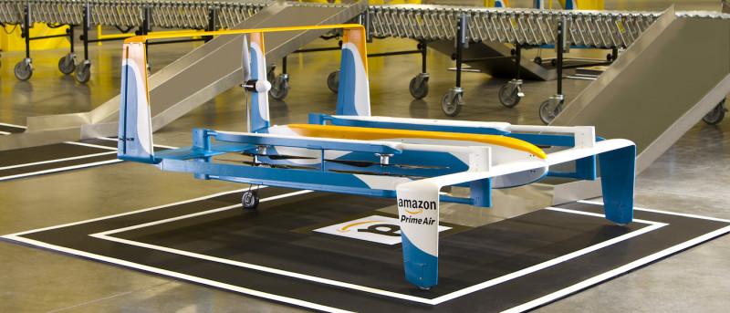 Amazon 空運業務 Prime Air 的送貨無人機。