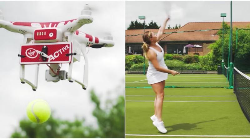 網球 無人機 訓練 drone-ovic