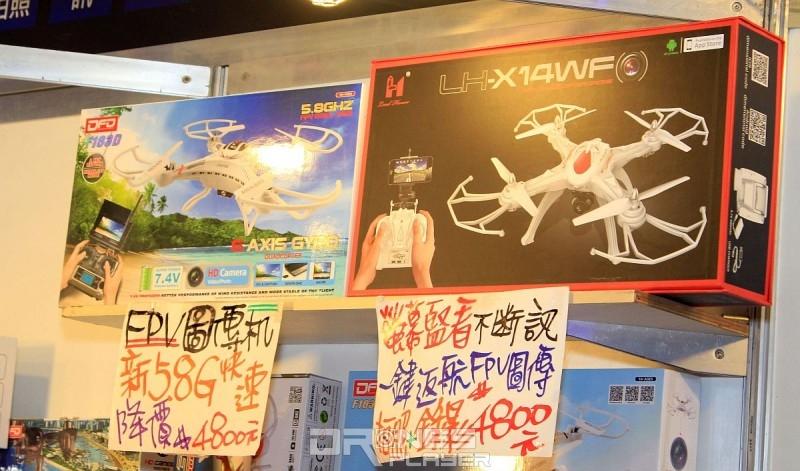 雖然台北電腦應用展上也有賣空拍機的攤位,但都是賣一些玩具級的入門產品。