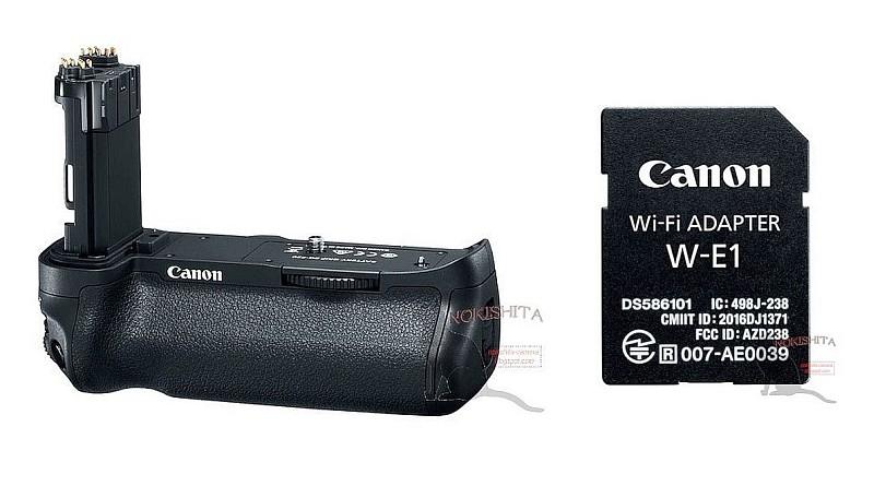 Canon 5D Mark IV 配件諜照流出 電池手柄與 Wi-Fi 接配器