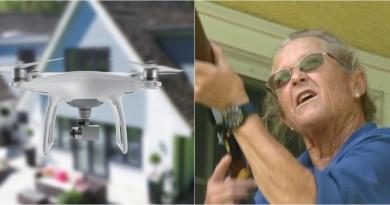 不滿住所空域被入侵 65 歲美婦一槍擊落空拍機!