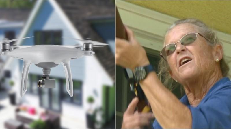 美國 槍擊 空拍機 老婦