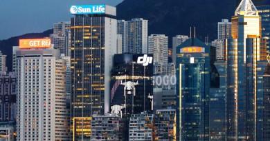 DJI 香港旗艦店 9 月底開幕 大廈外牆播放無人機霓虹光影