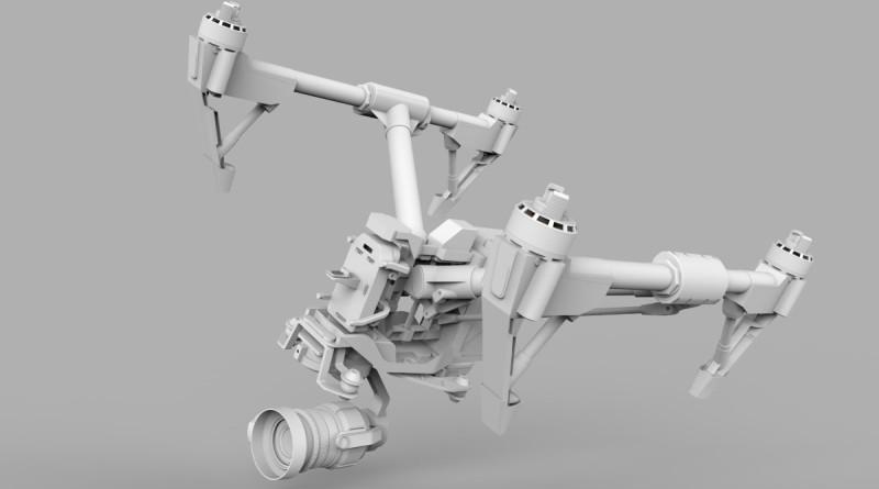 DJI 職員 Edwin Liu 個人製作的 Inspire 1 Pro CAD 圖