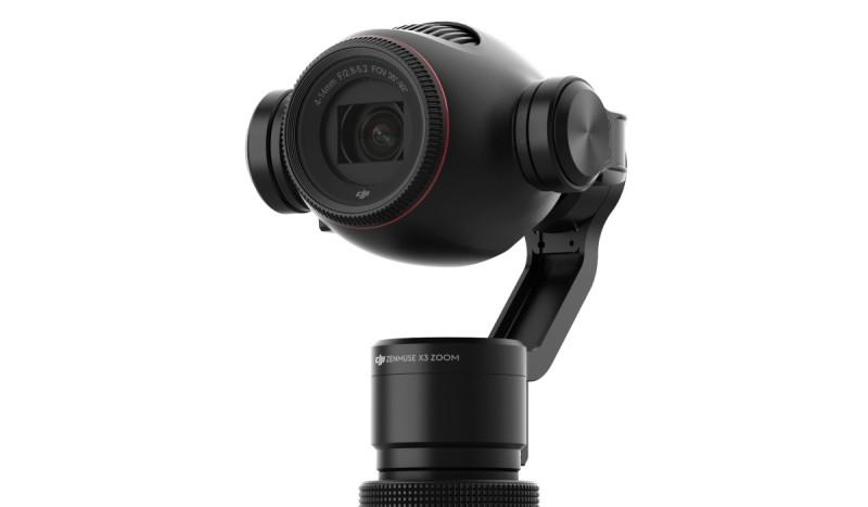 DJI Osmo+ 配備的雲台相機是 Zenmuse X3 Zoom,比初代 Osmo 的多出一個「Zoom」字,示意加強了變焦放大效能。
