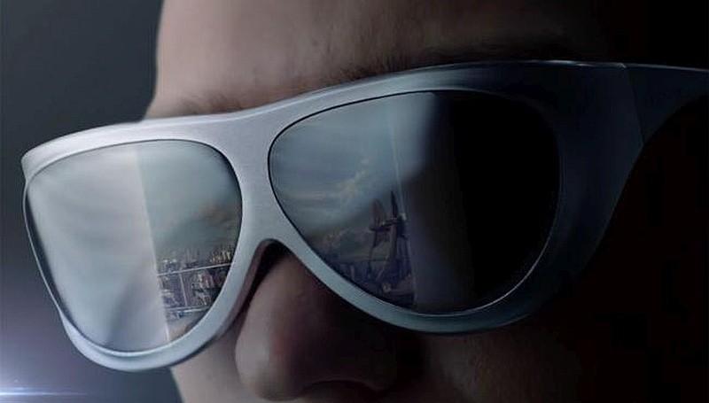 墨鏡形 VR 眼鏡 Dlodlo V1 淨重 88 克,適合長時間穿戴著玩遊戲。