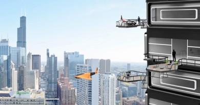 走出露台上飛機?無人機豪宅 Drone Tower 概念超現實
