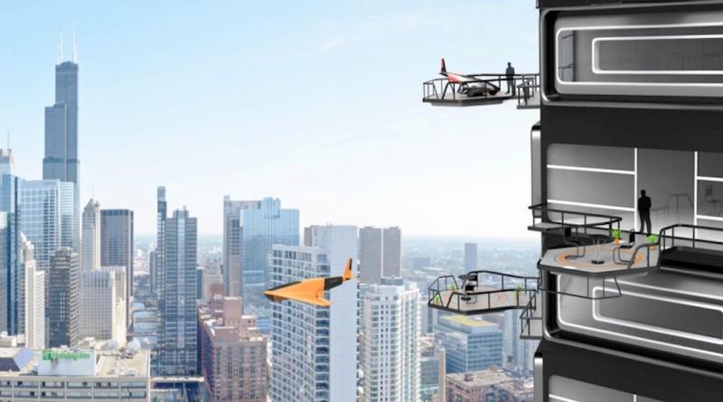 無人機 大樓 Drone tower