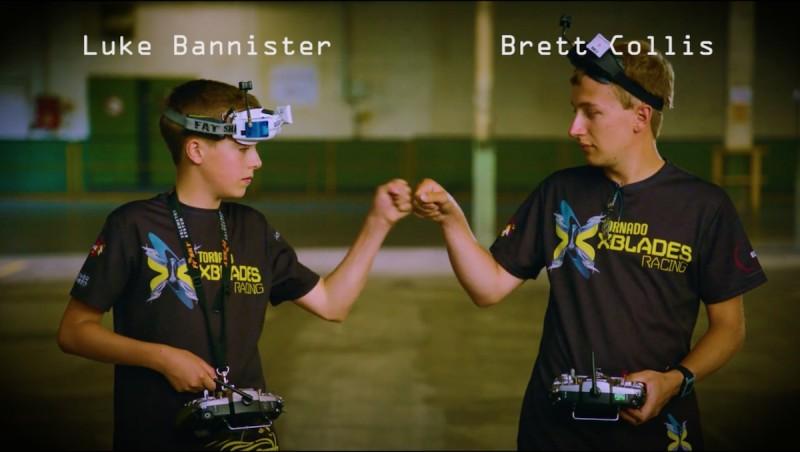 Luke Bannister 和隊友 Brett Collis 合作完成難度極高的穿越機特技。