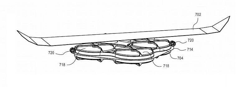4 軸飛行器上加裝一對固定翼,便可實現垂直升降和定翼滑翔兼備的飛行效果。