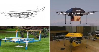 Amazon 初代無人機設計絕密曝光:4 旋翼飛行器加裝固定翼
