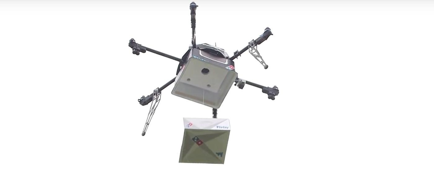全球首部外送披薩無人機 達美樂在紐西蘭成功試飛