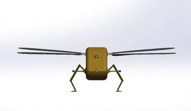 蜻蜓無人機手掌般大小,難以被察覺。