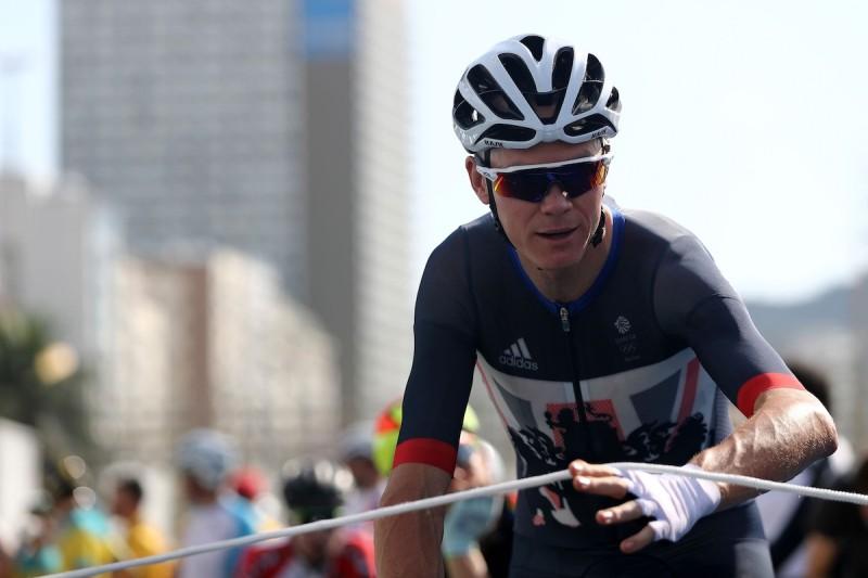 英國單車選手 Christopher Froome 在奧運首天的比賽情況。