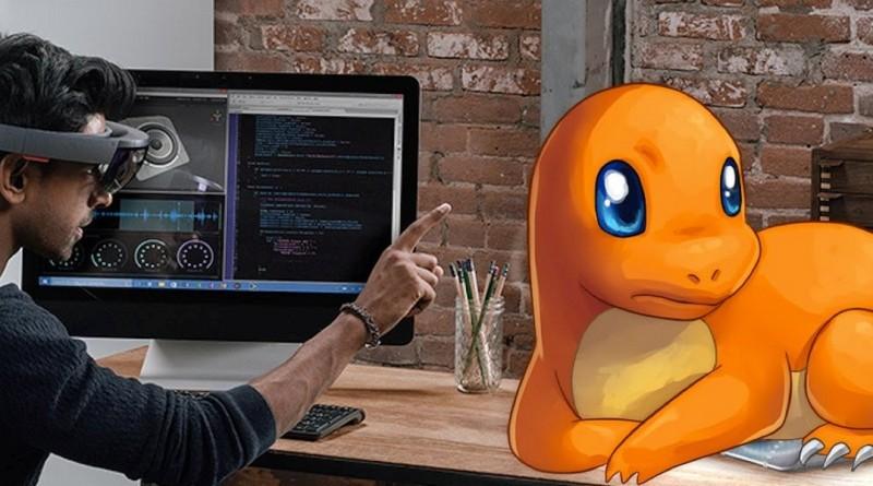 用 HoloLens 玩《Pokémon GO》 徒手拋出精靈球