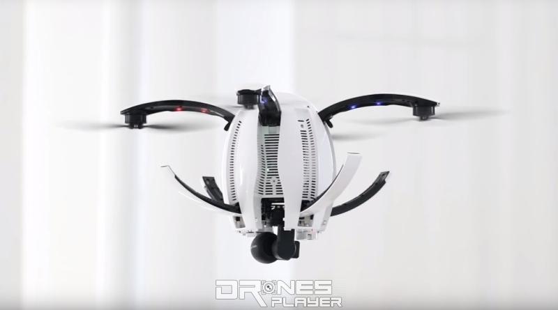 PowerEgg drone 起落架可於空中自動收起