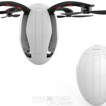 Poweregg drone 軸臂和起落架摺起後的模樣