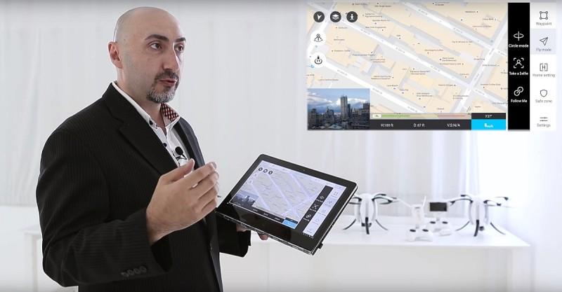 PowerVision 釋出的片段中,還有介紹 app 介面的環節,可惜航拍測試畫面卻欠奉。
