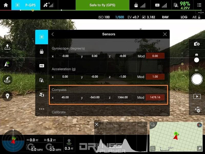無人機玩家在起飛行前,應先行校正飛行器數碼指南針的數值。