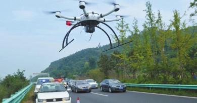 空拍機監控違規成常態!四川成都警方出動無人機查高速違法